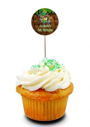 Minecraft Cupcake Picks/Toppers